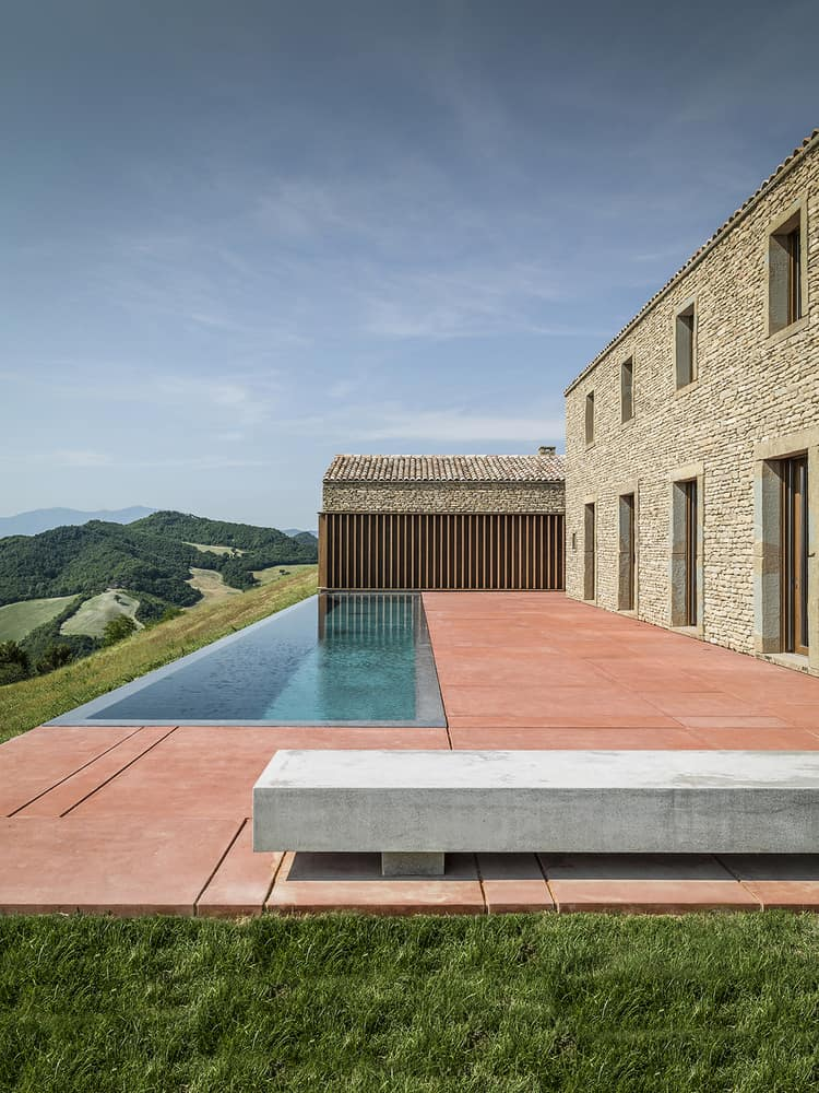 House with Stone Walls and Fantastic Views of the Mountains, Located in Italy