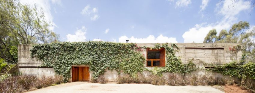 House of Open Spaces Which Making a Home out of the Exterior and Bringing its Lush Textures Indoors
