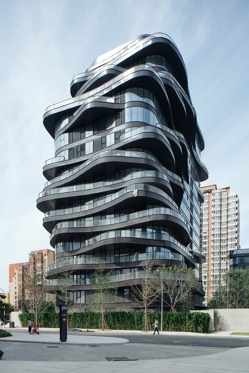 Futuristic Design with Curved Shapes of an Impressive Building in Central Business District of Beijing, China