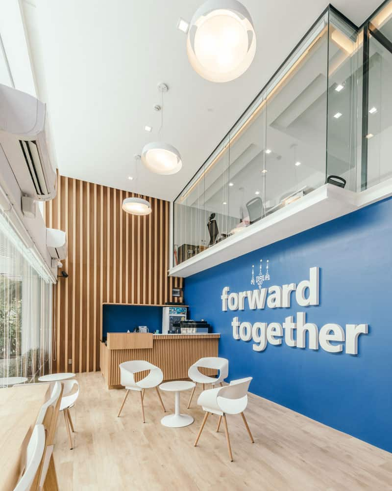 Office Located in Bangkok, Thailand, With an Entire Interior Space is Distributed Across Five Floors, Plus a Roof Terrace