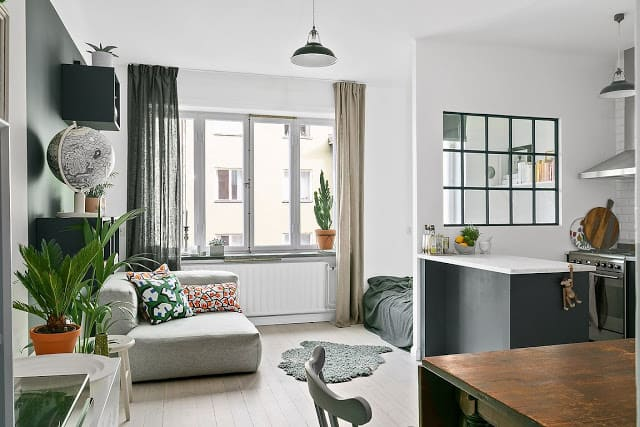 Small and Comfortable Apartment Located in Stockholm, Sweden