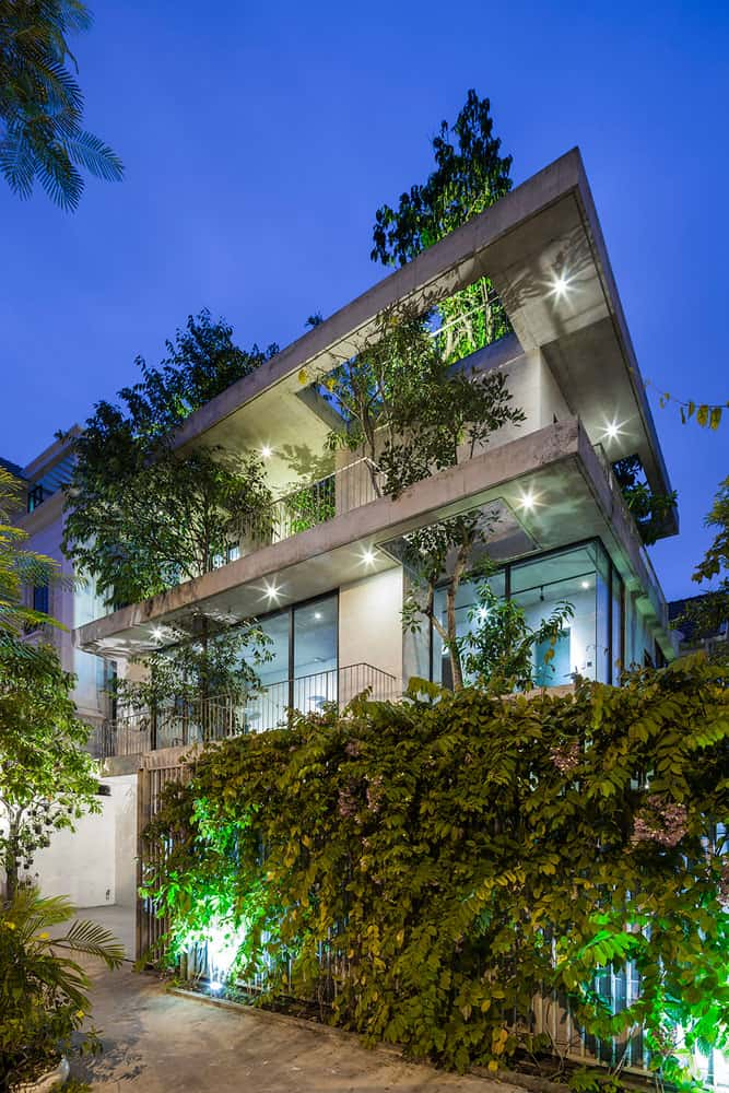House in Vietnam with Fabulous Exterior hanging Gardens Designed by ...
