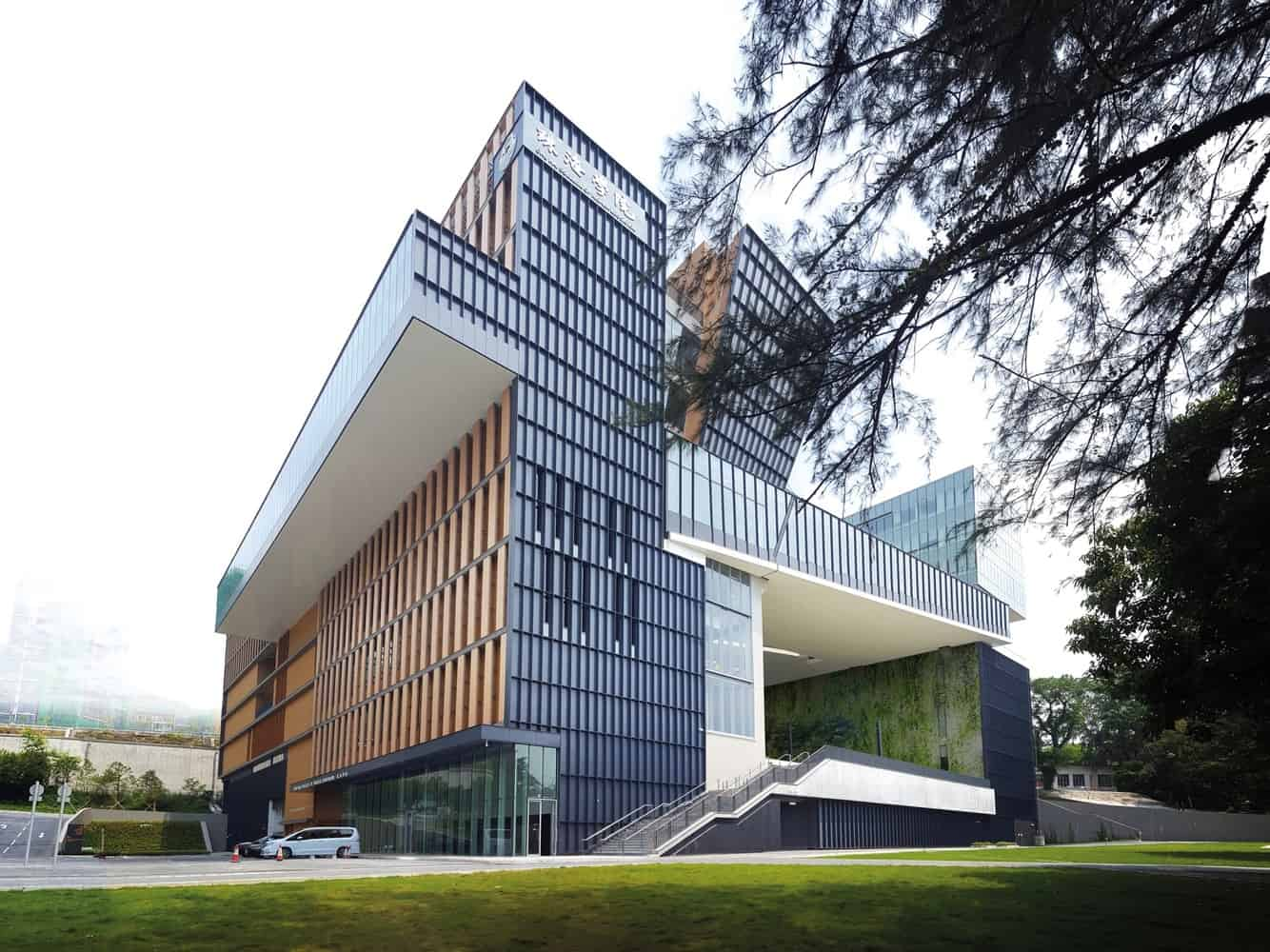 Imposing and Modern Design of a College Campus in the City of Tuen Mun, in Hong Kong