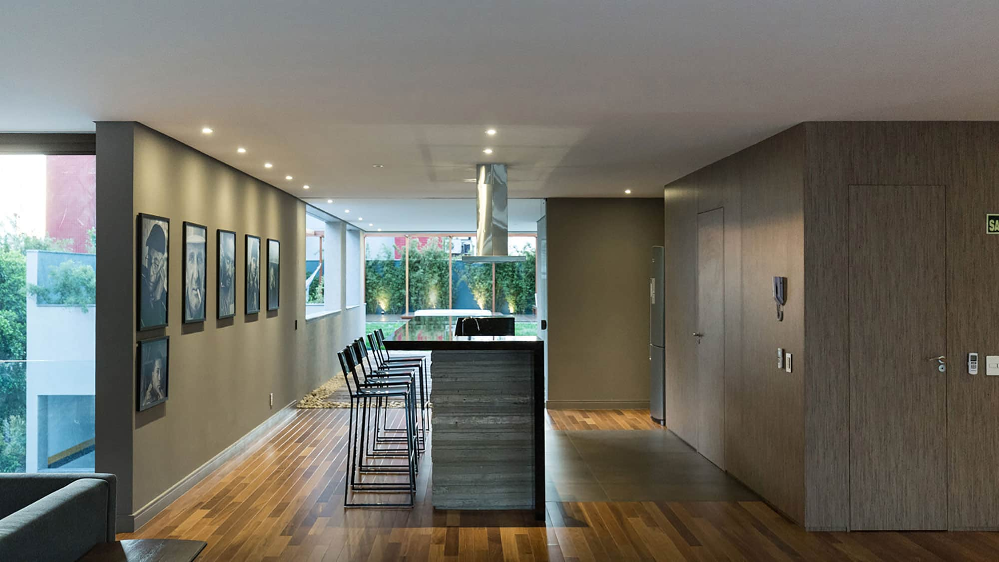 Fabulous Project in a Modern Style with Concrete and Glass Walls