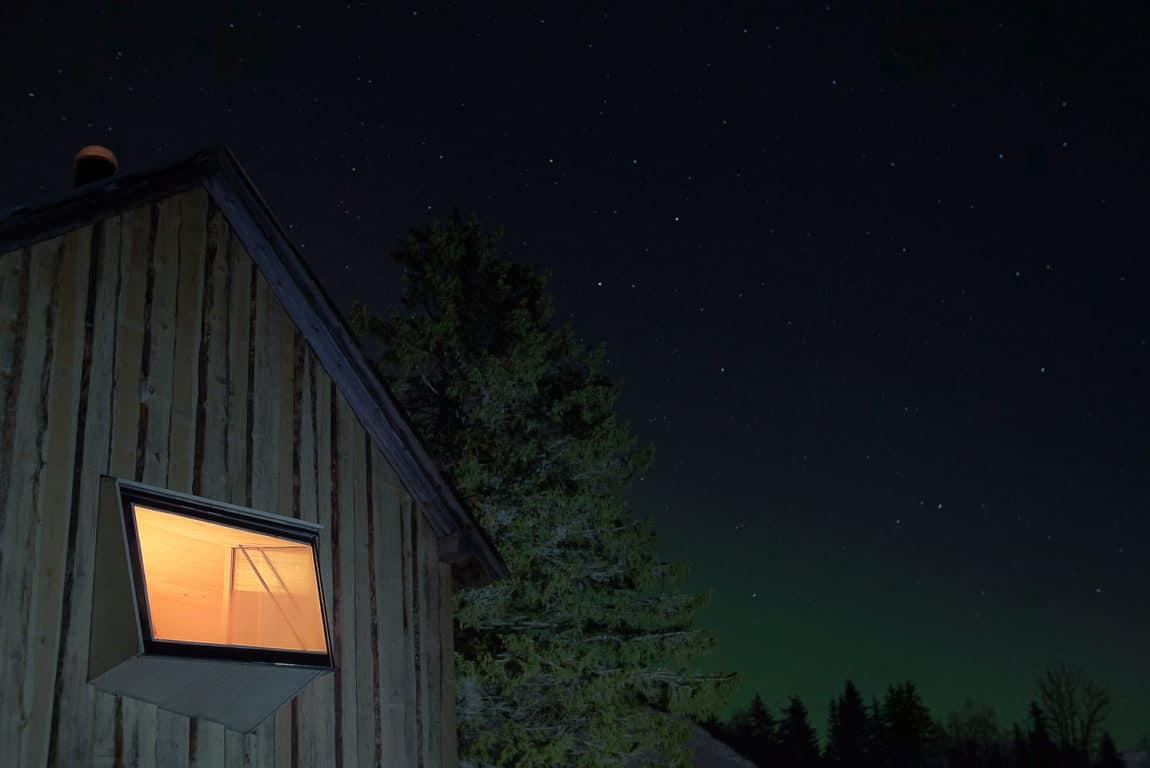 Outside views at night