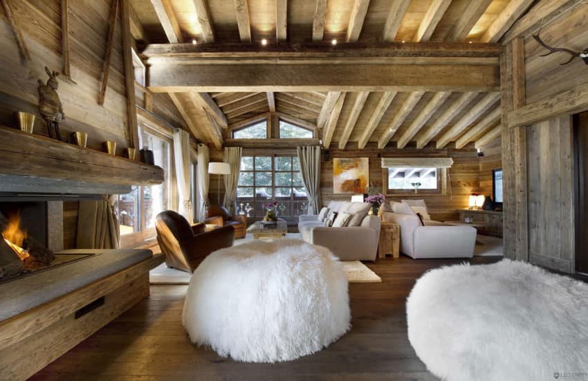 The Chalet Les Gentianes 1850 Living