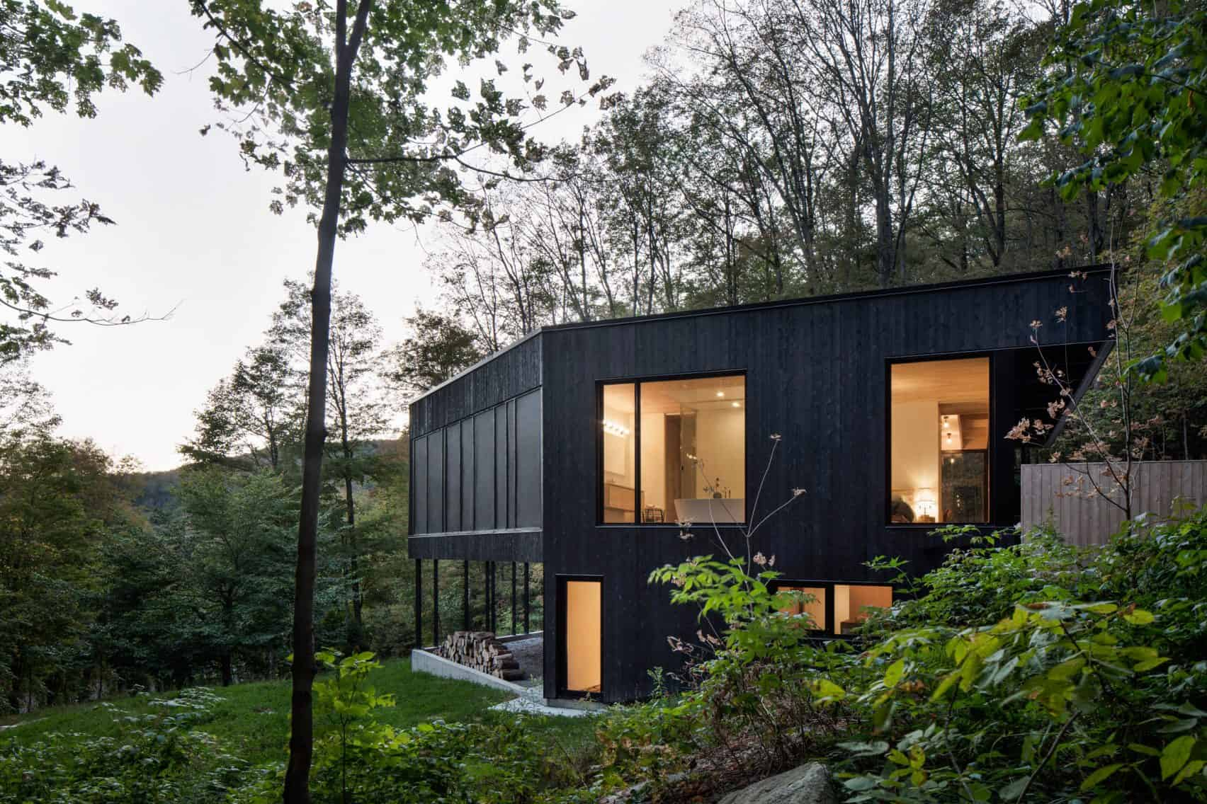 Fabulous Residence Nestled in a Wooded Hill of Quebec
