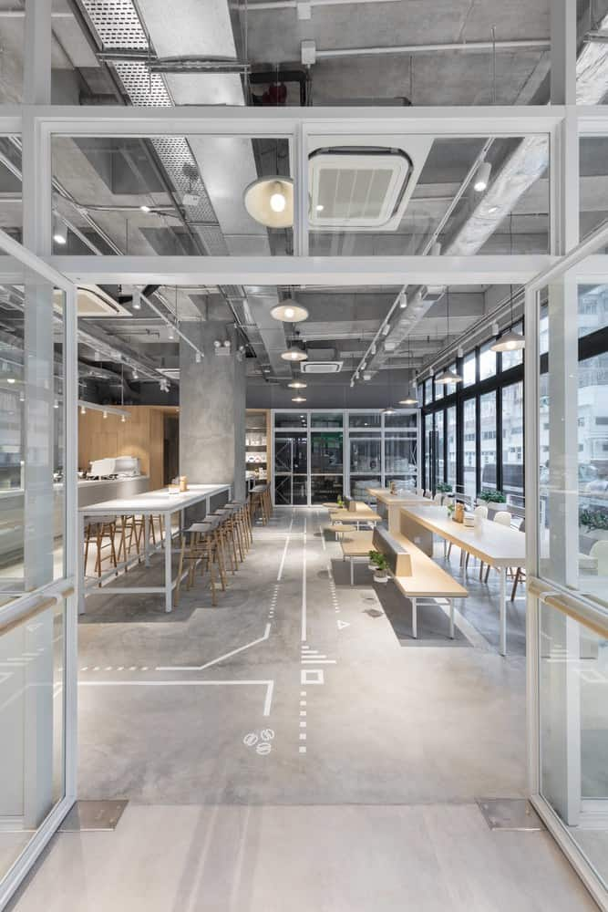 Modern Boutique Cafe in an Old Western District of Hong Kong