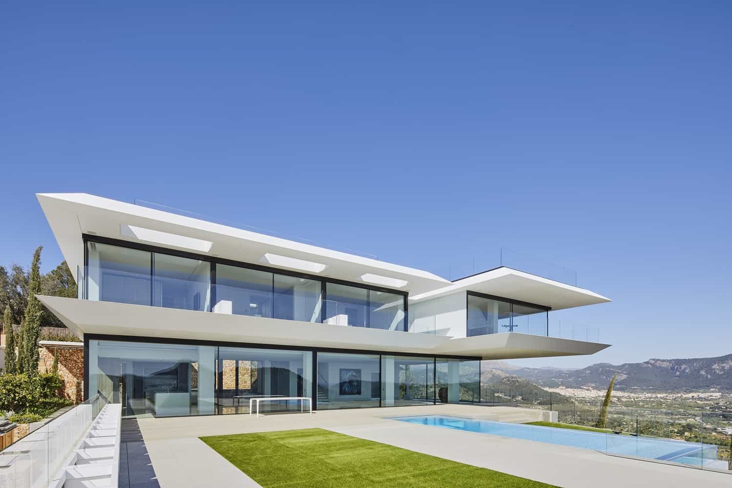Spectacular House in the Hills of the Island of Mallorca, Overlooking the Sea