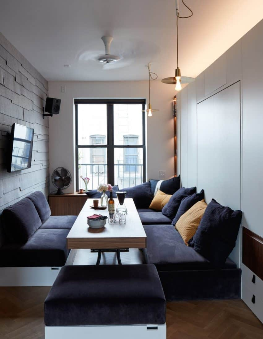 Small Apartment in Which the Expandable Furniture has been the Salvation