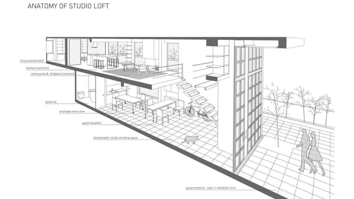 Studio Loft floor plan