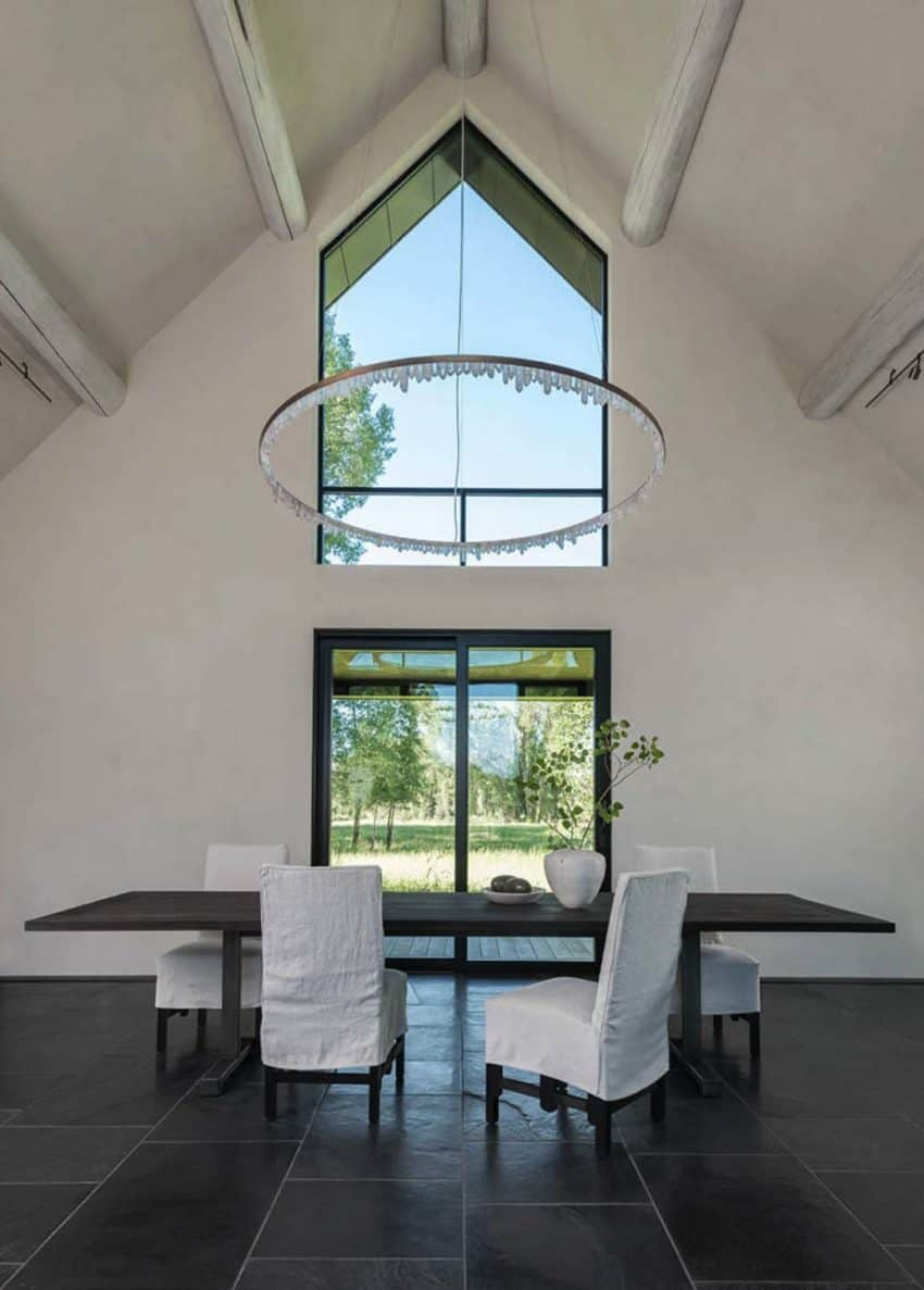 Carney logan burke architects build beautiful fishing cabin with a sweeping view of the teton mountain range