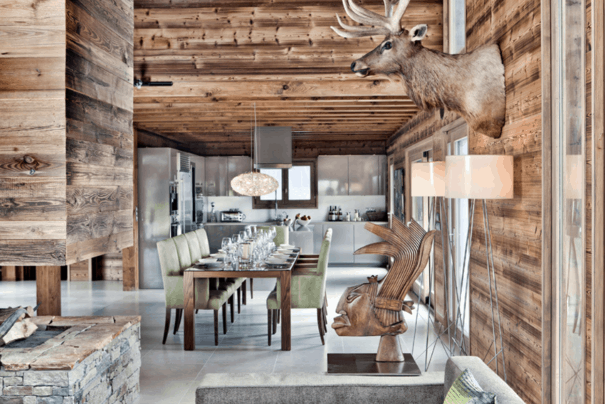 Chalet One Oak, a retreat near Megeve Ski Resort in France, gives a unique blend of rustic and swanky
