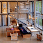 Heinz Julen Loft living room and loft aerial view