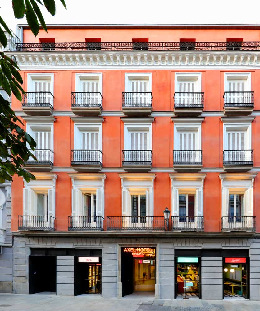 AXEL Hotel designed by El Equipo Creativo in Madrid to give guests a different visual experience in every room