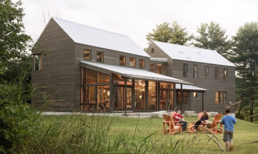 Old farmhouse in Main salvaged and transformed by Caleb Johnson Studio