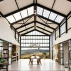 Industrial Style Architect's House glass dining room interior