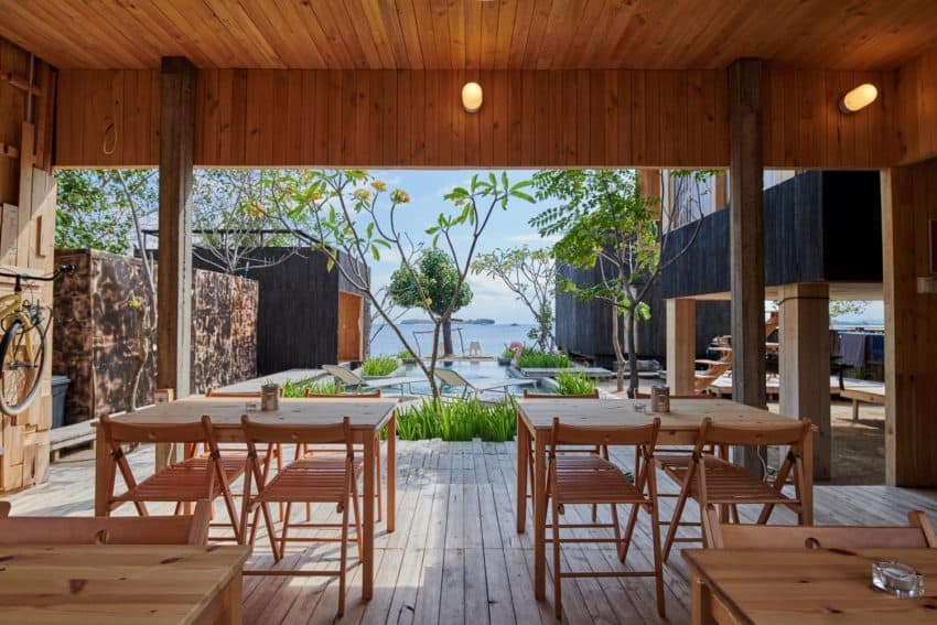 Entirely wooden Kiyakabin by Atelier Riri is a perfect getaway that feels like a cross between an island and a treehouse