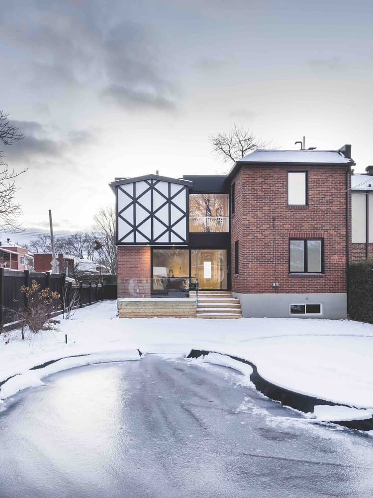 Montreal home La Cardinale renovated by L. McComber to bring it back to life after years of young kids and extensions