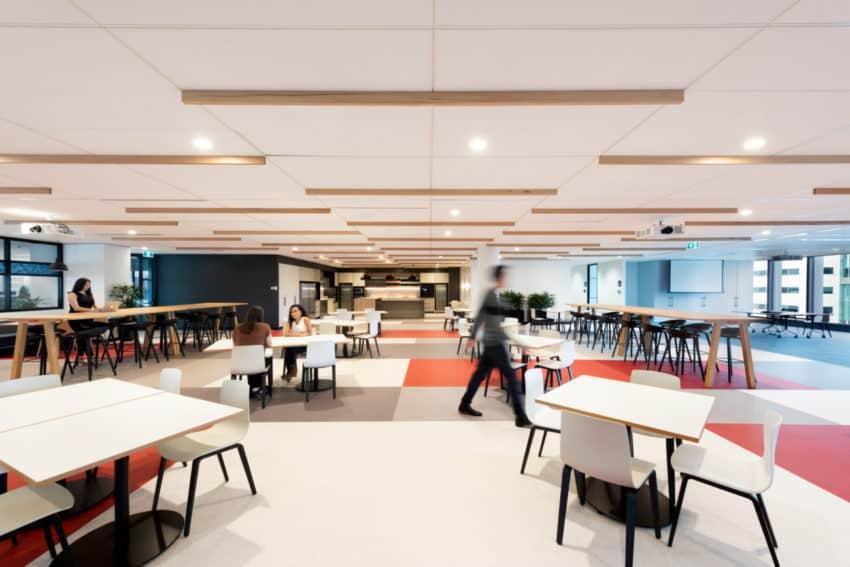 Fujitsu Offices by Billard Leece Partnership blend Japanese company's values and local Australian influence in Melbourne