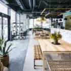 Kane World Food Studio wooden seating