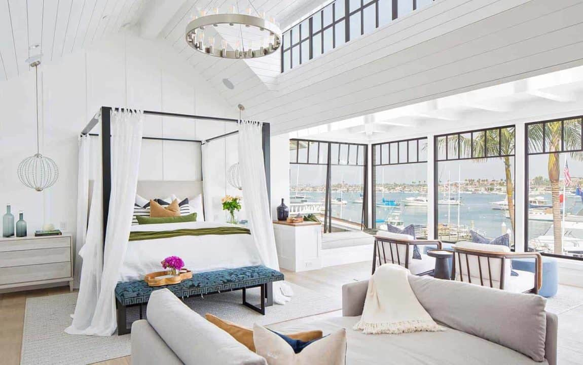 Modern Newport Beach House master bedroom