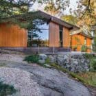 Natural Mid-Century Home rock slope