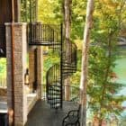 Sustainable Lakehouse full twisting staircase