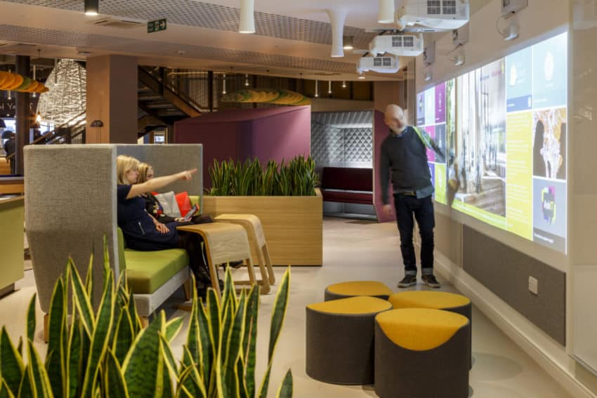 Innovative AstraZeneca Offices created by SpaceInvaders to provide a unique and engaging space for employees