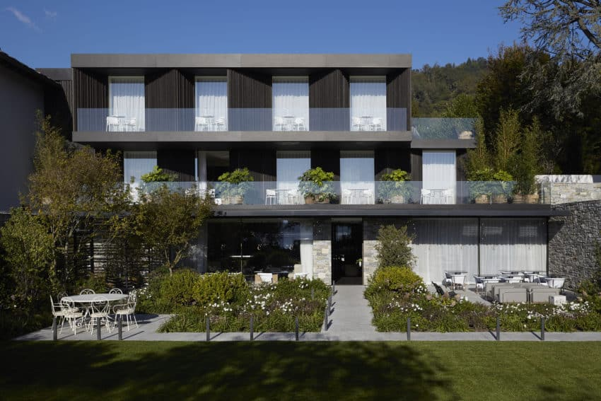 Casa Fantini Boutique Hotel created by Lissoni Architettura as a triple stacked, modern escape inspired by rectangular shapes