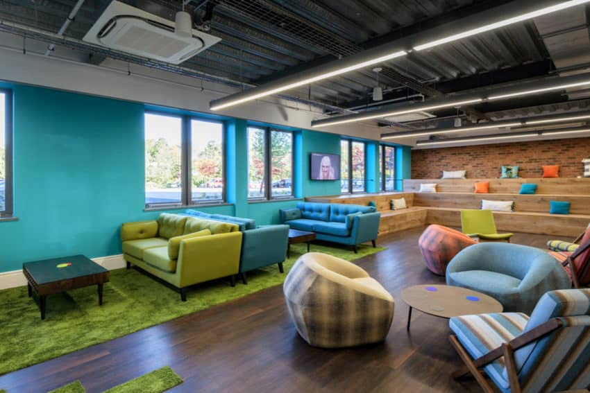 UK office of parenting company Mayborn Group Offices created by Ben Johnson Ltd to reflect their playful values