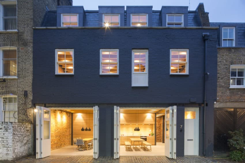 Brickwork Paddington home transformed into agricultural office by Edward Williams Architects