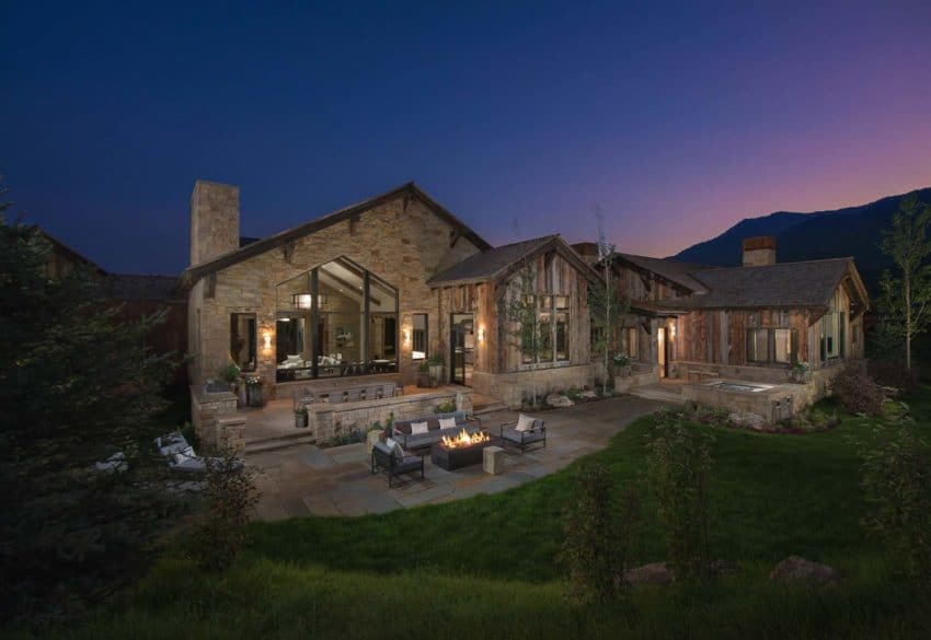 Wyoming Mountain Home created by KAM Designs as a perfect blend of modern and rustic style and living