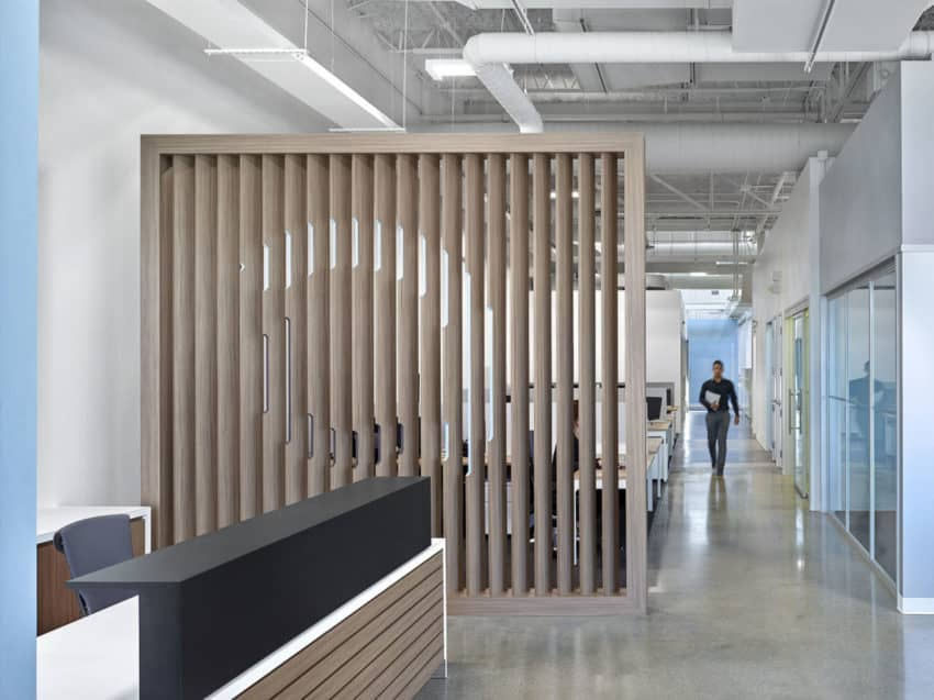Innovative Aercoustics Offices created by iN Studio to inspired collaboration and productivity in employees