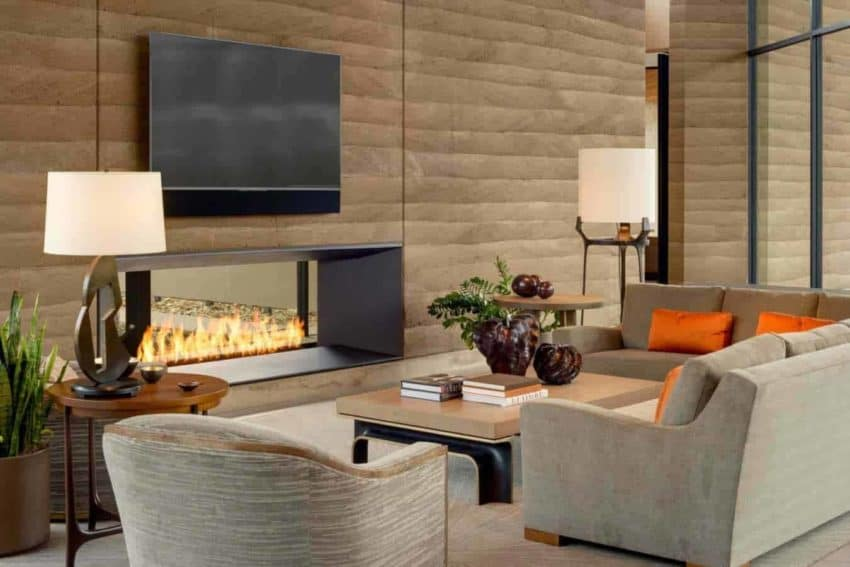 Angular Rammed Earth Home created by Kendle Design Collaborative in a beautiful mountain valley