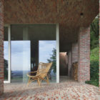 Sloped Villa Belgium Studio Okami Architects - bricks