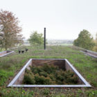 Sloped Villa Belgium Studio Okami Architects- green roof