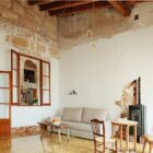 Beautiful weathered old finishes are preserved and enhanced inside the fabulous Spanish home