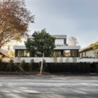 View of the Carter Toorak House from across the street with a private front
